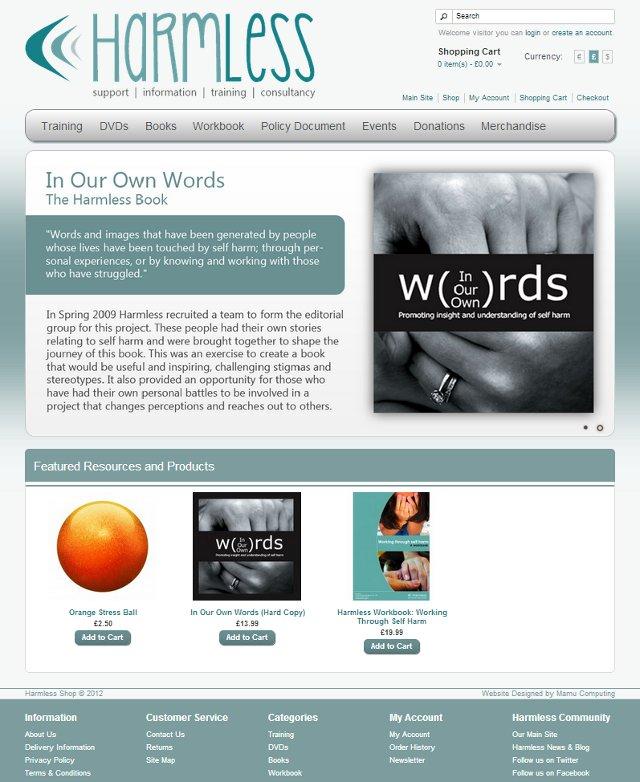 Harmless Online Shop Screenshot