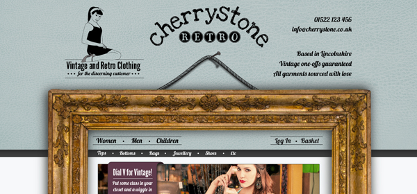 Cherry Stone Retro Website Design